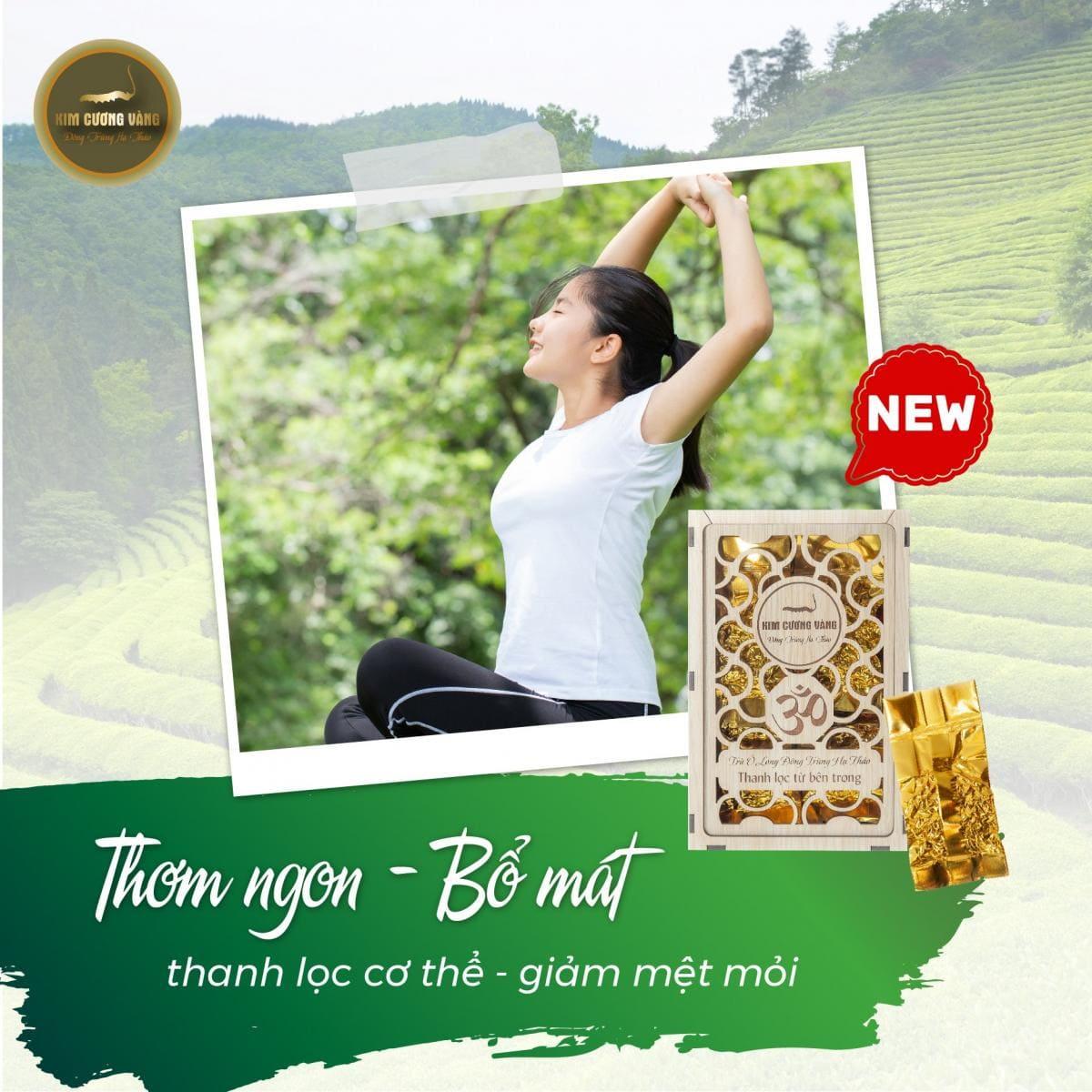trà Ô Long và Đông trùng hạ thảo của Dược Thảo Kim Cương Vàng