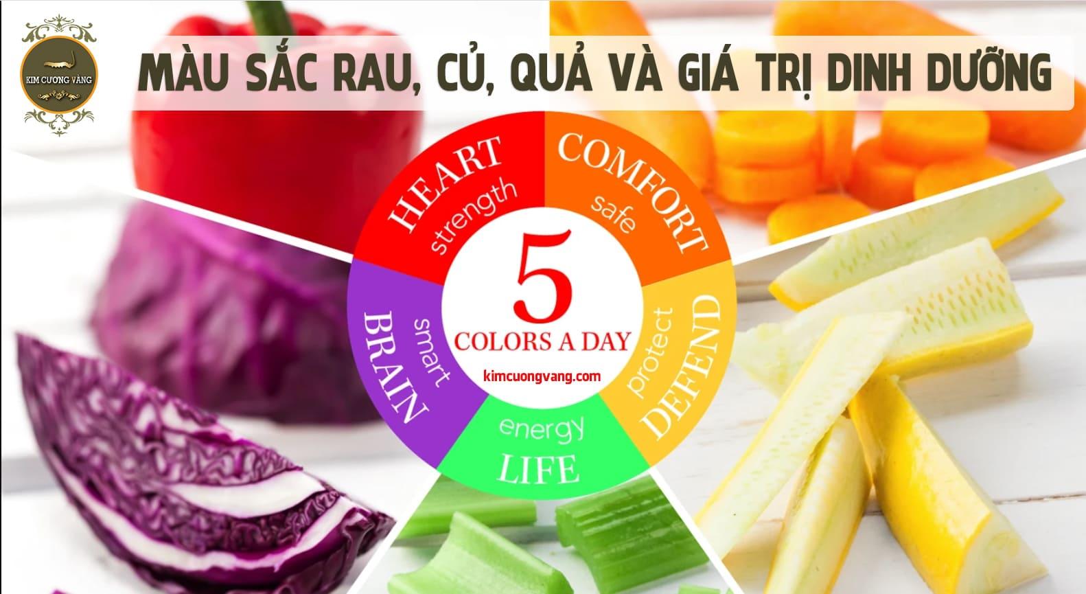 Màu sắc của rau,củ, quả và giá trị dinh dưỡng|Màu sắc của rau,củ, quả và những lợi ít bạn nên biết| Dong trung ha thao kim cuong vang