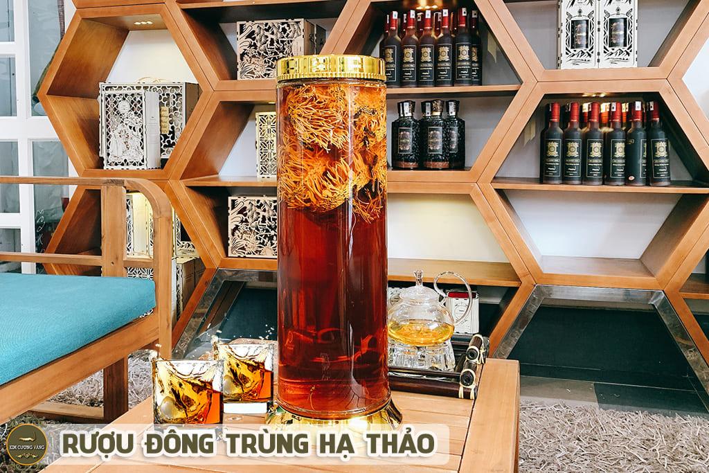 Rượu Đông Trùng Hạ Thảo loại 10 lít