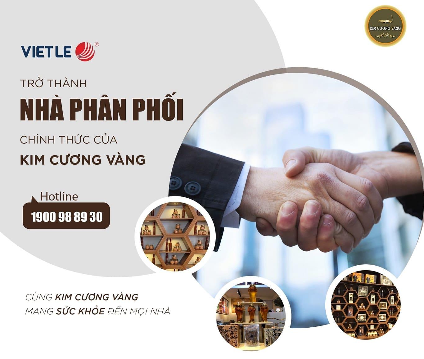Việt Lê chính thức là đại lý phân phối sản phẩm Dược Thảo Kim Cương Vàng|đông trùng hạ thảo