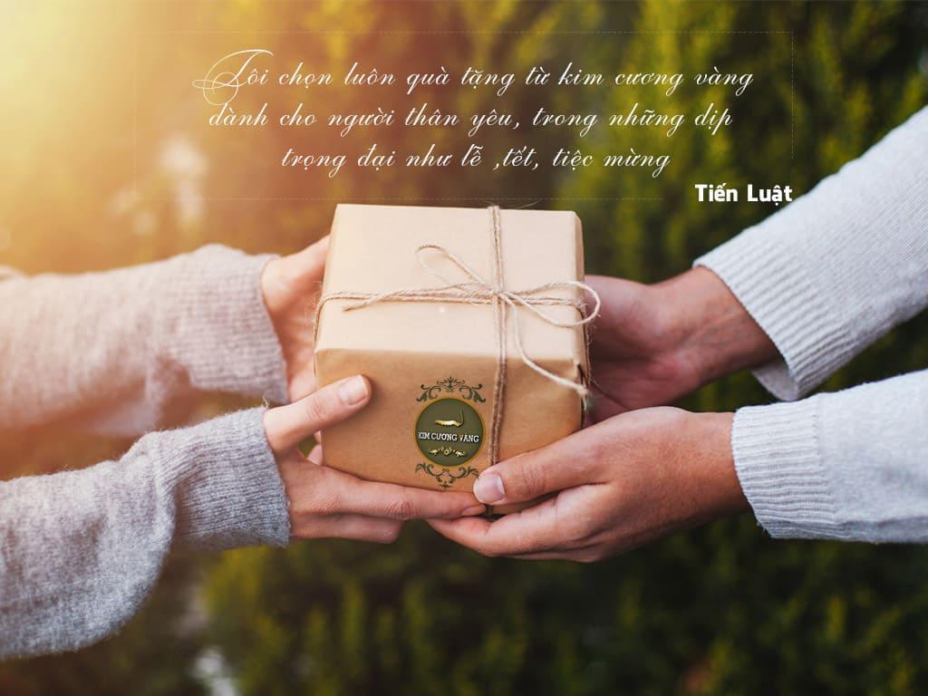 Quà tặng tam đa|Quà tặng cao cấp|Quà tặng ý nghĩa kim cương vàng