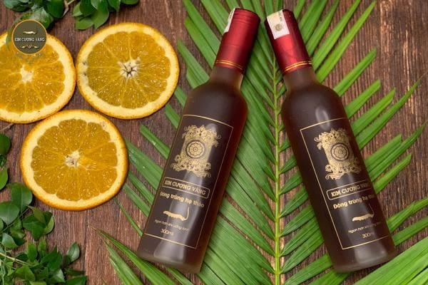 Rượu Đông Trùng Hạ Thảo loại nhỏ|Rượu Đông Trùng Hạ kim cương vàng